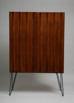 Minimalist mahogany cabinet with subtle rosewood inlay - 1373156