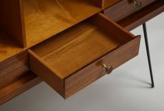Minimalist mahogany cabinet with subtle rosewood inlay - 1373157
