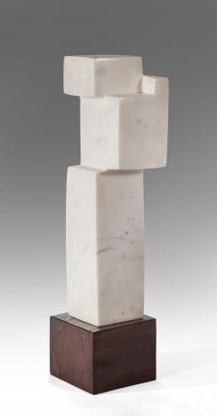 Minoru Niizuma - An American White Marble Abstract Sculpture