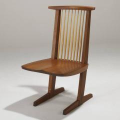 Mira Nakashima Four Mira Nakashima Walnut Conoid Chairs - 618611