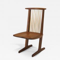 Mira Nakashima Four Mira Nakashima Walnut Conoid Chairs - 620150