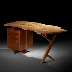 Mira Nakashima Mira Nakashima Conoid Desk in Indian Laurel American Walnut Myrtle Burl - 1477800