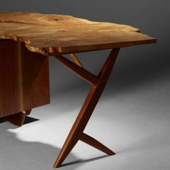 Mira Nakashima Mira Nakashima Conoid Desk in Indian Laurel American Walnut Myrtle Burl - 1477801