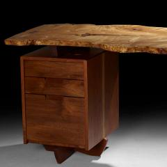 Mira Nakashima Mira Nakashima Conoid Desk in Indian Laurel American Walnut Myrtle Burl - 1477802
