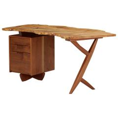 Mira Nakashima Mira Nakashima Conoid Desk in Indian Laurel American Walnut Myrtle Burl - 1477804