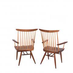 Mira Nakashima Pair New arm chairs design by George Nakashima - 1252397
