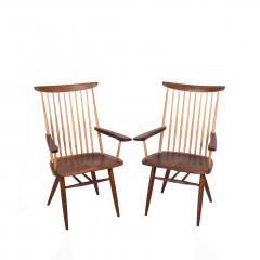 Mira Nakashima Pair New arm chairs design by George Nakashima - 1252398