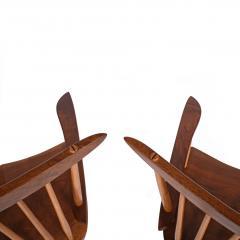 Mira Nakashima Pair New arm chairs design by George Nakashima - 1252401