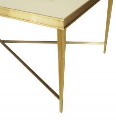 Miriam Ellner Louis XVI Style Bronze Floral Aglomise Coffee Table - 1424678