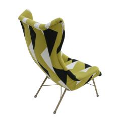 Miroslav Navratil Miroslav Navratil Black Lacquered Steel And Cotton ArmChair Czechoslovakia 60s - 868850
