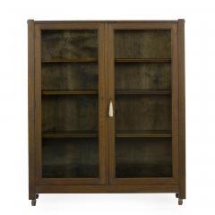 Mission Arts Crafts Oak Antique Bookcase Bookshelf Cabinet 20th Century - 1040514