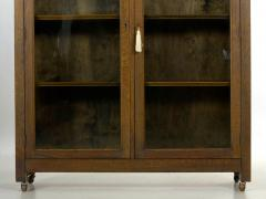 Mission Arts Crafts Oak Antique Bookcase Bookshelf Cabinet 20th Century - 1040518
