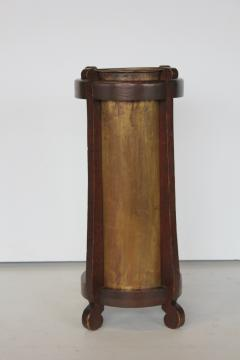Mission Oak and Brass Umbrella Stand by the Lakeside Craft Shops - 1368728