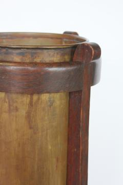 Mission Oak and Brass Umbrella Stand by the Lakeside Craft Shops - 1368730
