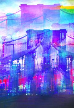 Mitchell Funk Brooklyn Bridge Mulitple Exposure - 1257618