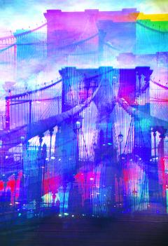 Mitchell Funk Brooklyn Bridge Mulitple Exposure - 1257620