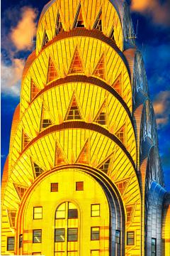 Mitchell Funk Chrysler Building Top Art Deco Architecture New York City - 1914555