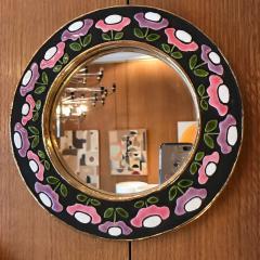 Mithe Espelt Ceramic Mirror by Mith Espelt France 1970s - 2119953
