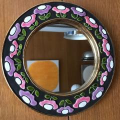 Mithe Espelt Ceramic Mirror by Mith Espelt France 1970s - 2119954