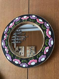 Mithe Espelt Ceramic Mirror by Mith Espelt France 1970s - 2119955