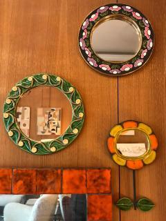 Mithe Espelt Ceramic Mirror by Mith Espelt France 1970s - 2119956