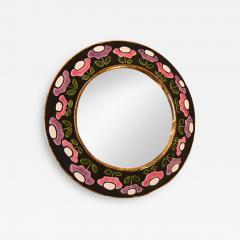 Mithe Espelt Ceramic Mirror by Mith Espelt France 1970s - 2120729