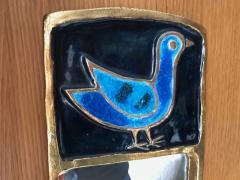 Mithe Espelt Ceramic Mirror by Mith Espelt France 1970s - 2119963