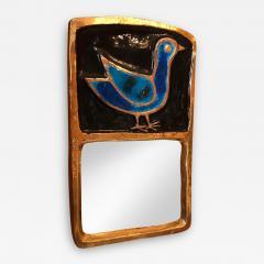 Mithe Espelt Ceramic Mirror by Mith Espelt France 1970s - 2120730