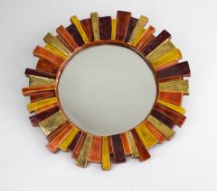 Mithe Espelt Mith ESPELT 1960s Gilded Ceramic Mirror not Lembo  - 1565743