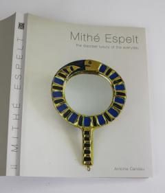 Mithe Espelt Mith ESPELT 1960s Gilded Ceramic Mirror not Lembo  - 1565747