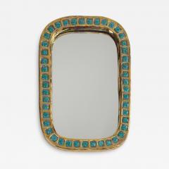 Mithe Espelt Mith ESPELT 1960s Gilded Ceramic Mirror not Lembo  - 1568937