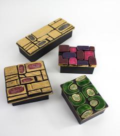 Mithe Espelt Mith ESPELT 1960s Jewellery Chest with Gilded Ceramic Lid not Lembo  - 1565740