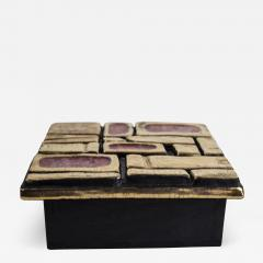 Mithe Espelt Mith ESPELT 1960s Jewellery Chest with Gilded Ceramic Lid not Lembo  - 1566049