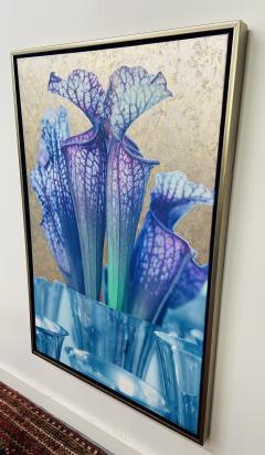 Mixed Media Painting on Canvas with 23 Karat Gold Leaf Titled Trumpets Signed - 1597396