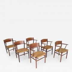 Mobel Fabrik B rge Mogensen Dining Chairs by S borg M belfabrik in Denmark - 1241881