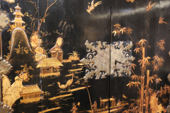 Mobile secretary in black lacquer painted in chinoiserie France 1700 - 1314190