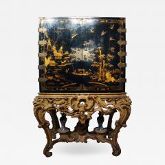Mobile secretary in black lacquer painted in chinoiserie France 1700 - 1314210