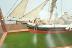 Model Ship in a Glass Case with Teak Frame France 1960s B - 1827531
