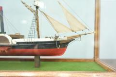 Model Ship in a Glass Case with Teak Frame France 1960s B - 1827534