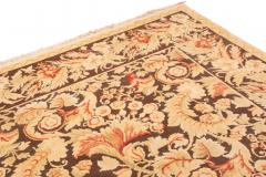Modern 18th Century Style Transitional Brown and Beige Wool Rug - 1204396
