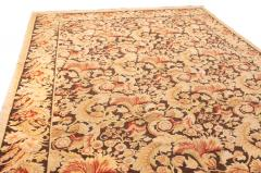 Modern 18th Century Style Transitional Brown and Beige Wool Rug - 1204397