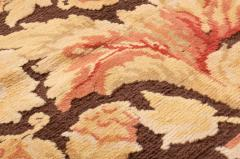 Modern 18th Century Style Transitional Brown and Beige Wool Rug - 1204399
