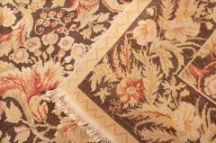 Modern 18th Century Style Transitional Brown and Beige Wool Rug - 1204400