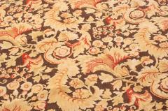 Modern 18th Century Style Transitional Brown and Beige Wool Rug - 1204401
