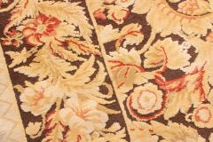 Modern 18th Century Style Transitional Brown and Beige Wool Rug - 1204402