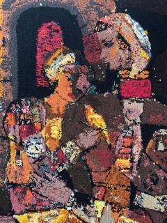 Modern Art Midcentury Monumental Wall Art Wool Tapestry - 1421291