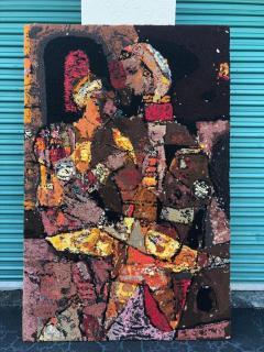 Modern Art Midcentury Monumental Wall Art Wool Tapestry - 1421296