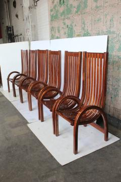 Modern Bentwood Tall Back Dining Chairs Set of 6 - 1365037