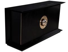 Modern Black Flared Sideboard Buffet - 1800515