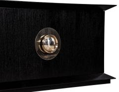 Modern Black Flared Sideboard Buffet - 1800520
